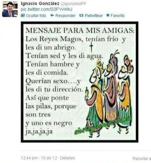 Twit del presidente de Madrid mandado por 'error'
