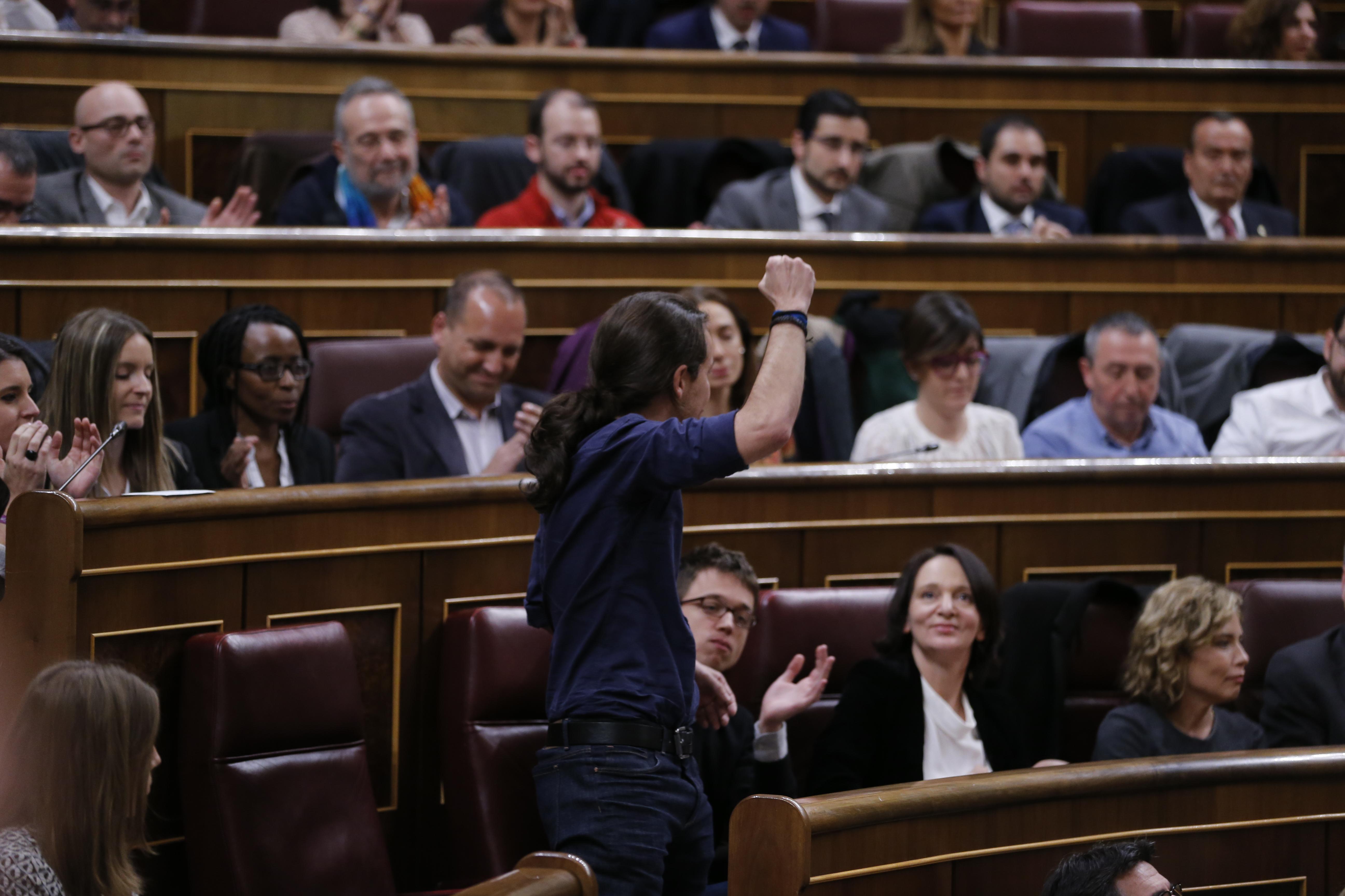 Madrid 13-01-2016 ////// pleno de constitucion de la XI legislatura en el congreso de los diputados con la eleccion de la mesa y presidente del congreso  .. --///. FOTO..Jaime Garcia... ARCHDC////...en la imagen  pablo iglesias